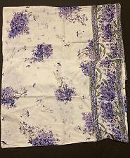 Set Of 2 Vintage APRIL CORNELL Hydrangea Indigo Sauvage Floral Pillow Sham Case