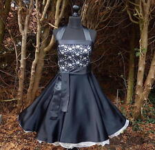 Petticoatkleid Tanz Jugendweihe Konfirmation Abend Cocktail Abiball Kleid 34-54