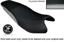 BLACK AND LIGHT GREY VINYL CUSTOM FITS KYMCO PULSAR 08-13 DUAL SEAT COVER ONLY