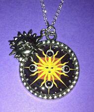 SUN CHARM NECKLACE moon scene emo goth kitsch pagan wiccan mystical fantasy