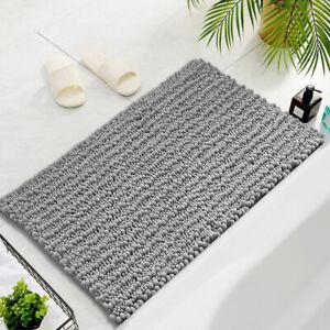 Bathroom Rugs By Zebrux extra-Soft Striped Non-Slip Shower Bath Mat set