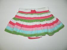 BABY GAP girls Pink Green Blue White Stripe SKIRT Skort* 12 18 months