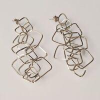 Ohrringe Anhänger Silber 925 Rhodium und Rombi By Maria Ielpo Made in Italien