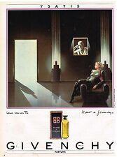 Publicité Advertising 1985 Parfum Ysatis de Givenchy