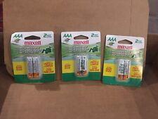 3 Packs Triple AAA BATTERIES RECHARGEABLE 6 Batteries Total New