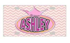 PRINCESS CROWN #1 MINI LICENSE PLATE Any Name Personalized Kids Bicycles Wagons