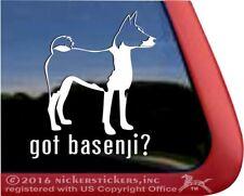 Got Basenji? High Quality Vinyl Dog Window Decal Sticker