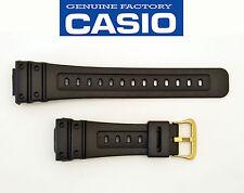Casio ORIGINAL Watch Band  Black Rubber Strap GW-5600BJ Gold tone buckle