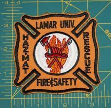 LAMAR UNIV. HAZ MAT FIRE DEPARTMENT PATCH (319)