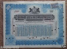 LEHIGH VALLEY TRANSIT COMPANY 100 SHARES STOCK  JULY 31, 1917 ALLENTOWN, PA