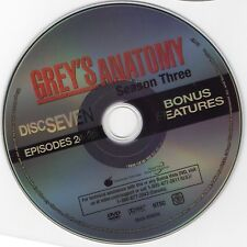 Grey's Anatomy DVD - Season 3: Episodes 24 & 25 +Bonus . Replacement Disc 7 ONLY