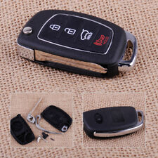 4 Button Flip Remote Key Fob Case Shell Fit For Hyundai Santa Fe ix45 ix35 i30