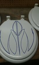 Hand Painted Pin Stripped Toilet Seat