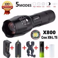 X800 Taschenlampe LED Zoomable Militär Fackel G700 SkyWolfeye mit Akku-Ladegerät