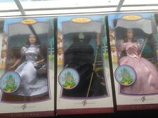 Barbie Collector Pink Label Wizard of Oz Dolls Dorothy, Glinda, méchante sorcière