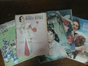 WOMEN'S WEEKLY MAGAZINES ~ 5 FROM THE 1950s ERA AUSTRALIAN EDITIONS ~ GOOD TO EX