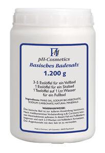 pH-Cosmetics - Basisches Badesalz - 1200g ( 20,83 EUR/1kg) + frei wählbare Probe