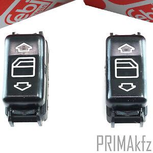2x Original Febi Elevalunas Interruptor Delant. Mercedes W201 W124 W463 W126