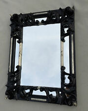 Wandspiegel Schwarz Silber Barock Shabby Rechteckig Antik Badspiegel 41X32 C491