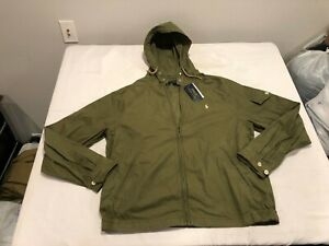 NWT $149.99 Polo Ralph Lauren Mens Hooded Canvas Jacket Green Size XXL