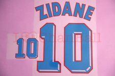 Zidane #10 1998 France Awaykit Nameset Printing