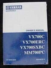 YAMAHA 700 VX700C VX700ERC VX700SXBC MM700PC SNOWMOBILE OWNER'S MANUAL SEALED!
