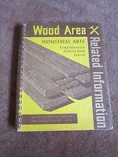 Vintage Industrial Arts Shop Wood Area Related Information Teacher 1950 Woodwork