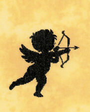 Cross Stitch Kit ~ Lanarte Classic Cupid 1 Valentine Cherub w/Bow #PN-0156303