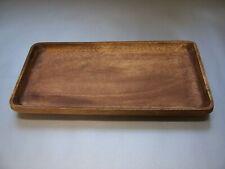 Teller Schalen Tablets rechteckig 14,5x30 cm Schüssel  Akazienholz Mittelalter