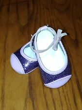 American Girl GOTY Chrissa Sparkle Purple MEET SHOES ONLY Display EUC Pristine