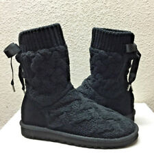 UGG ISLA CABLE KNIT BLACK BOOT sz  US 11 / EU 42 / UK 9.5 - NEW