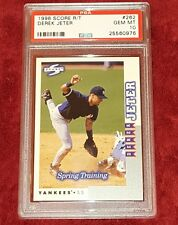 DEREK JETER 1998 SCORE R/T 262 NY YANKEES ROOKIE TRADED SPRING TRAINING PSA 10 ☆