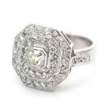Art Deco 1,35 Ct Diamant Ring in 750 Gold 18 Kt Weißgold  Antik um 1920