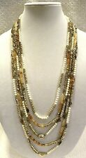 LUCKY BRAND NECKLACE, CITRINE AND IVORY COLORED BEADS, MULTI LAYERS, NWT, $79!