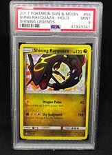 Pokemon SM Shining Legends Shining Rayquaza 56/73 Gold Star Holo Foil PSA 9 MINT