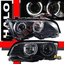 2000 2001 BMW E46 325ci 330ci 2DR Coupe Black Halo Projector Headlights RH + LH