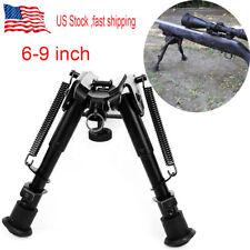 "Us 6""-9"" 5 Level adjust Spring Return legs Bipod Sling Swivel for Rifle hunting"