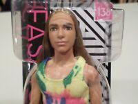 Ken Fashionista 138 Mattel. Long Blonde Hair- Tie dye shirt - NRFB NEW -IN HAND!