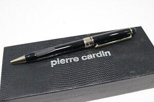 Vintage Pierre Cardin Ballpoint Pen Twist Black Gold Trim