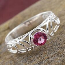 Pure Pink Mystic Topaz Sterling Silver Ring sz6 0.60 cts
