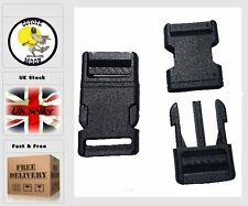 2pcs Plastic Side Release Buckles,Bags Straps Clips For Webbing 28 mm UKSeller