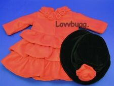 """Red Coat + Hat for 18"""" American Girl Doll Clothes Lovvbugg Widest Selection!"""