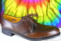 9 B mens vtg brown leather FLORSHEIM oxfords shoes NOS
