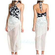 NWT SPANX Shapewear $98 Swimsuit Sheer Creme Sarong Wrap Cover Up Swimwear OS