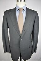 Reichardt's Solid Gray Worsted Wool 3/2 Roll Two Piece Lounge Suit Size: 38R