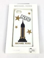 Michael Kors iPhone 7 or 8 White NYC Glitter Stars Phone Case 35H7GE9L4P