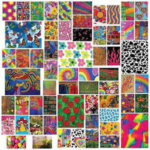 60Pcs Indie Room Decor Aesthetic Collage Kit For Wall - Unique Indie Room Decor