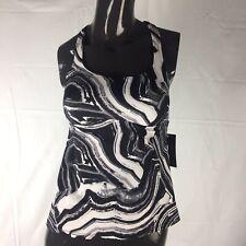 940017f665756 Nike Plus Swim Tankini Top Swimsuit Team Beach Racerback Black White 1x  Large