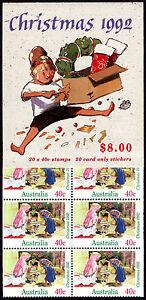 Christmas 1992  $8 (20 x 40c Nativity Scene) booklet  Ret: $14.00  • FREE POST•