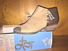 OTBT Truckage Booties Wedges Open Toe High Heels Ankle Boots Shoes Women Size 6